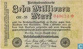 Banknotes - Reichsbanknote - Germany 10 million Mark
