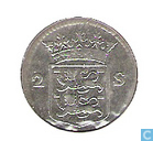 Monnaies - Frise occidentale - Penny West-Friesland arme à double 1760