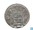 Monnaies - Frise occidentale - Penny West-Friesland arme à double 1760