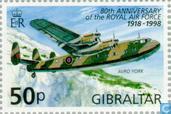 Timbres-poste - Gibraltar - 80 ans RAF