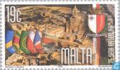 Postzegels - Malta - Republiek 25 jaar