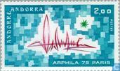Postage Stamps - Andorra - French - Arphila '75 Stamp Exhibition