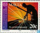 Postage Stamps - Malta - I.L.O. 50 years