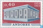 Timbres-poste - Andorre - Poste française - Europe – Temple
