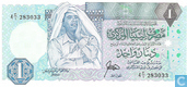 Billets de banque - Central Bank of Libya - Dinar Libye 1