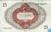 Banknotes - Geldzuivering Nederland - 25 guilder Netherlands 1945