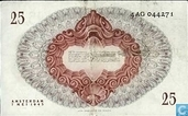 Billets de banque - Geldzuivering Nederland - 25 florins néerlandais 1945