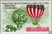 Postage Stamps - Andorra - French - Aerospace 200 years