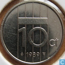 Coins - the Netherlands - Netherlands 10 cents 1989