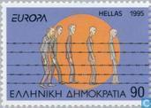 Postzegels - Griekenland - Europa – Vrede en vrijheid