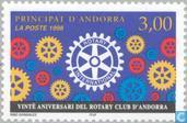 Postage Stamps - Andorra - French - Rotary 20 years