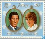 Postage Stamps - Jersey - Wedding Prince Charles and Diana