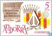 Postage Stamps - Andorra - Spanish - Pareage Convention 700 years