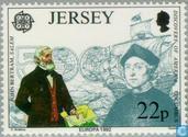 Postzegels - Jersey - Europa – Ontdekking van Amerika