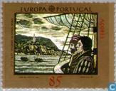Postzegels - Azoren - Europa – Ontdekking van Amerika