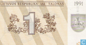Lithuania 1 Talonas