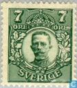 Timbres-poste - Suède [SWE] - 7 vert
