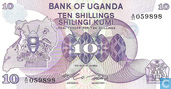 Ouganda 10 Shillings ND (1982)