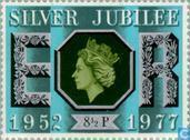 Timbres-poste - Grande-Bretagne [GBR] - 25 ans de règne Elizabeth II
