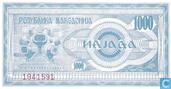 Billets de banque - Macédoine - 1992 Issue - Macédoine 1.000 Denari 1992