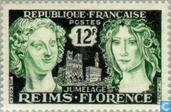 Postage Stamps - France [FRA] - City link Reims-Florence