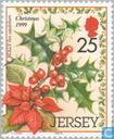 Postzegels - Jersey - Kerstflora