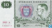 Suède 10 Kronor 1983 (P52d4)