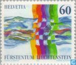 Timbres-poste - Liechtenstein - quartier Suisse-Liechtenstein