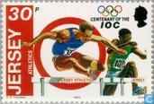 Postage Stamps - Jersey - 100 years of International Olympic Committee