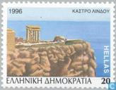 Postage Stamps - Greece - Castles