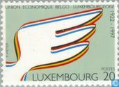 Timbres-poste - Luxembourg - Belgo-luxembourgeoise union monétaire 75 années