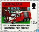 Postage Stamps - Gibraltar - Firefighters 1865-1990