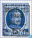 Postage Stamps - Belgium [BEL] - King Albert I (type Houyoux), with overprint