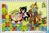 Postage Stamps - Gibraltar - Europe – Children's games