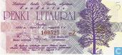 Banknotes - Sportgames 27 juli - 4 augustus 1991 - Lithuania 5 litaurai