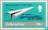 Timbres-poste - Gibraltar - Airmail 1931-1981