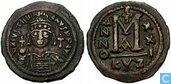 Munten - Byzantijnse Rijk - Byzantijnse Rijk 40 Nummi van Keizer Justinianus 527 n.Chr.