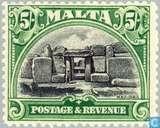 Briefmarken - Malta - Bezeichnet PORTO & EINNAHMEN