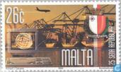 Postage Stamps - Malta - Republic 25 years
