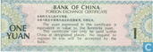 Bankbiljetten - Bank of China - China 1 Yuan