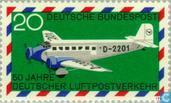 50 years airmail traffic in Germany