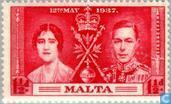 Postage Stamps - Malta - Coronation of George VI