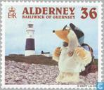 Briefmarken - Alderney - Wombles