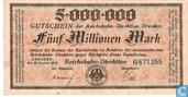 Dresden 5 Miljoen Mark 1923