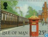 Postage Stamps - Man - 125 years of railways