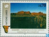 Timbres-poste - Nations unies - Genève - Namibie