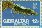 Postage Stamps - Gibraltar - Gibraltar from Space