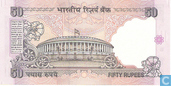 Banknoten  - Reserve Bank of India - Indien Rupees 50 2006