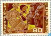 Postzegels - Liechtenstein - Liechtenstein 250 jaar