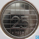 Coins - the Netherlands - Netherlands 25 cents 1995
